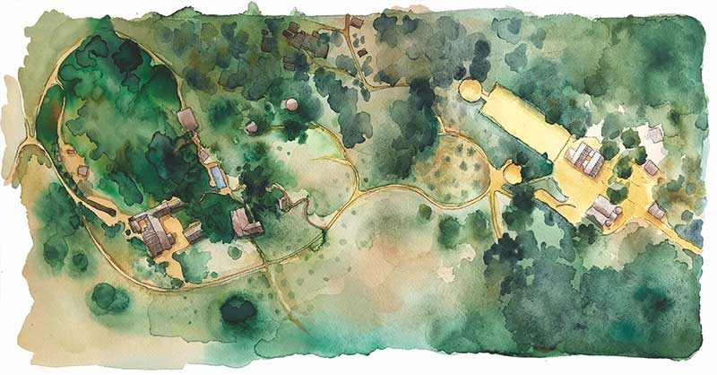 La Donaira map illustration